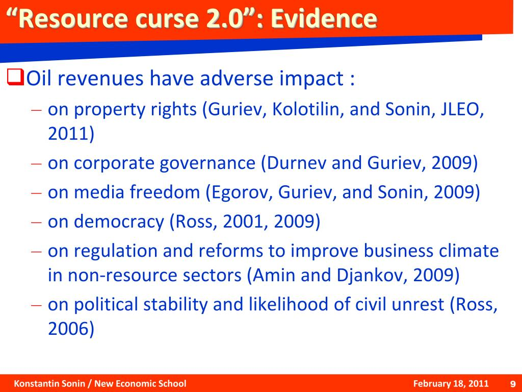 """Resource curse 2.0"": Evidence"