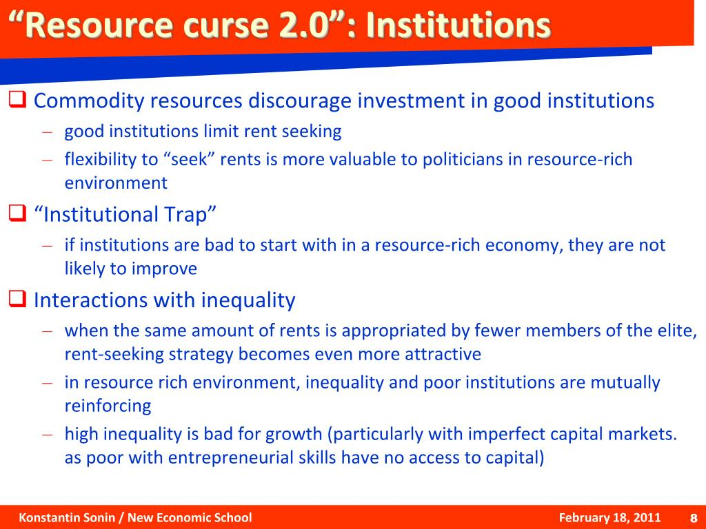 """Resource curse 2.0"": Institutions"