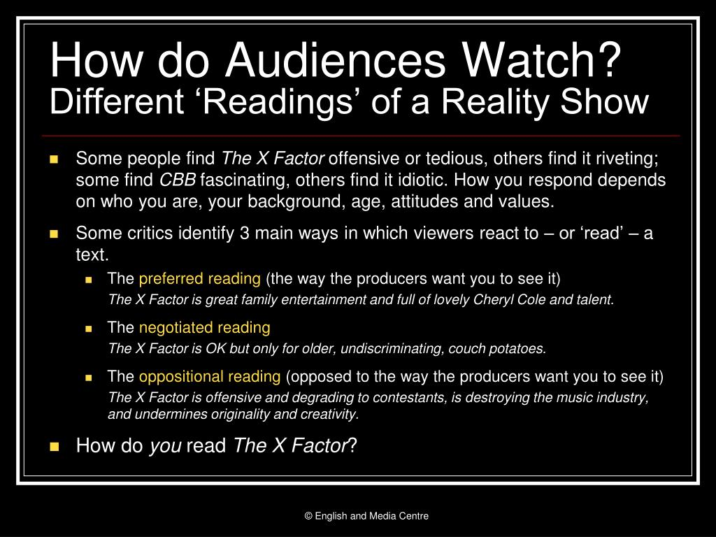 How do Audiences Watch?