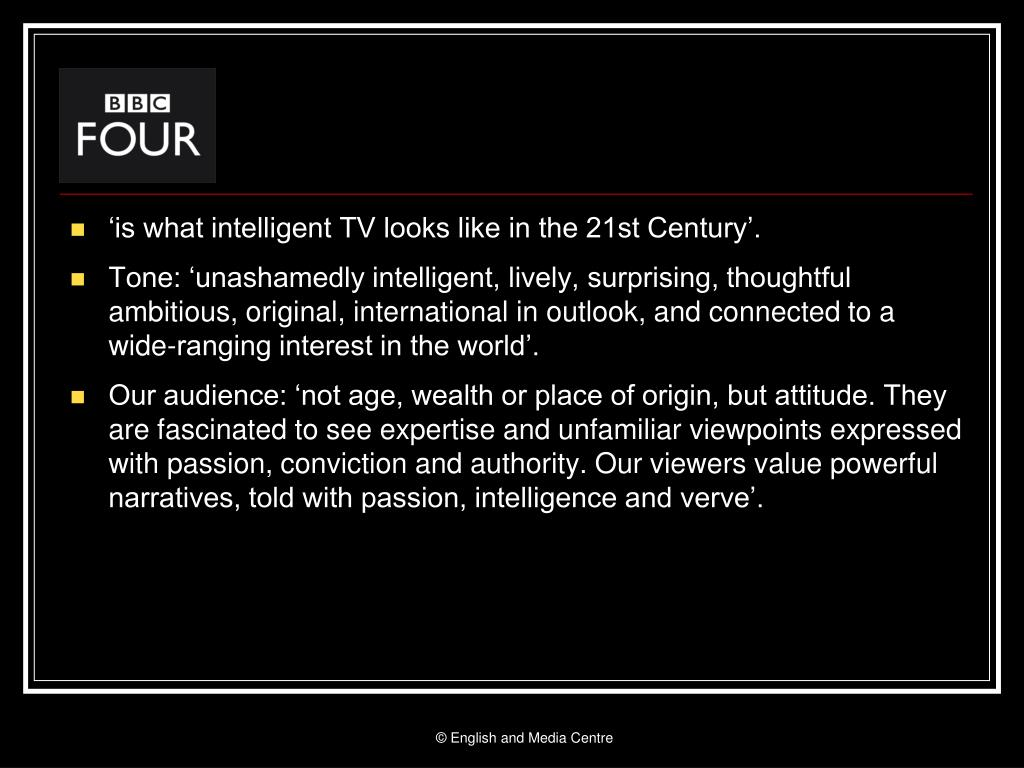 'is what intelligent TV looks like in the 21st Century'.