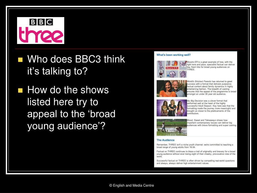 Who does BBC3 think it's talking to?