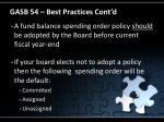 gasb 54 best practices cont d