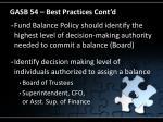 gasb 54 best practices cont d20