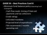 gasb 54 best practices cont d21