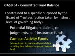 gasb 54 committed fund balance