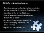gasb 54 note disclosures
