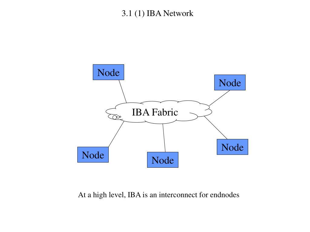 3.1 (1) IBA Network