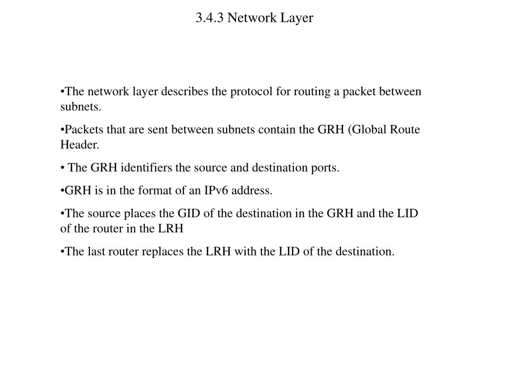 3.4.3 Network Layer