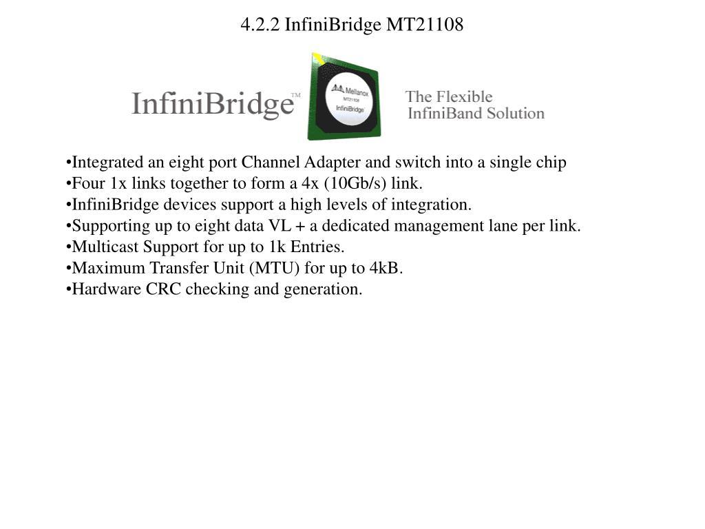 4.2.2 InfiniBridge MT21108
