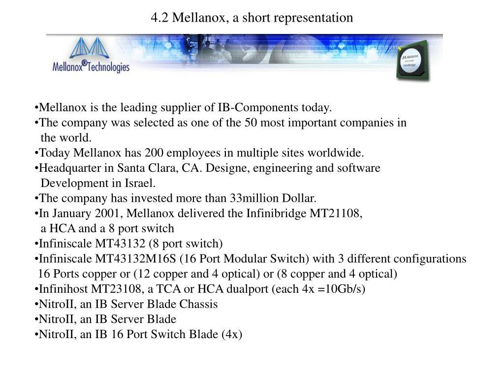 4.2 Mellanox, a short representation