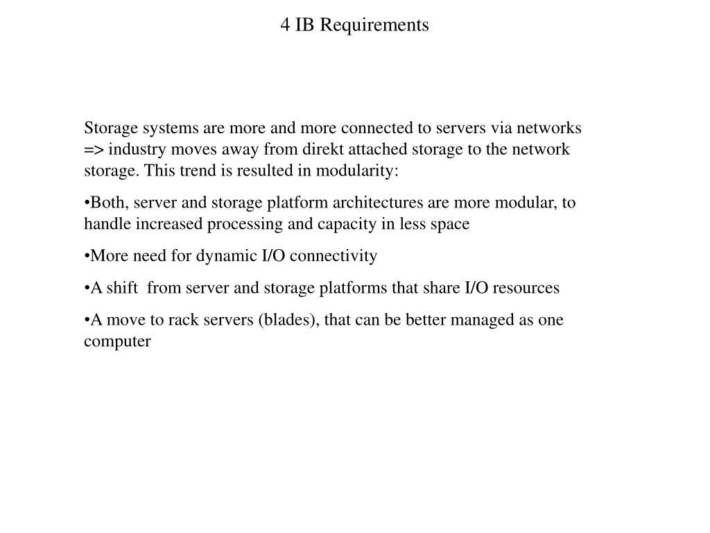 4 IB Requirements