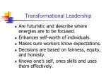 transformational leadership17