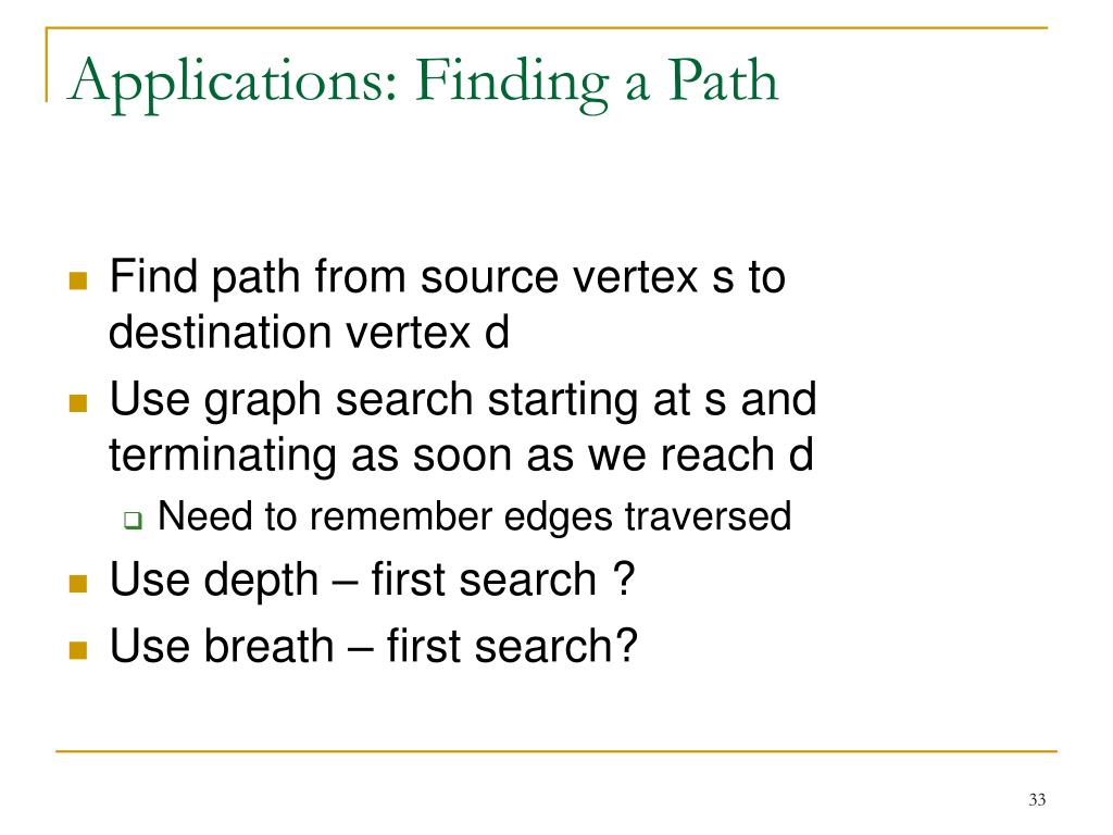 Applications: Finding a Path