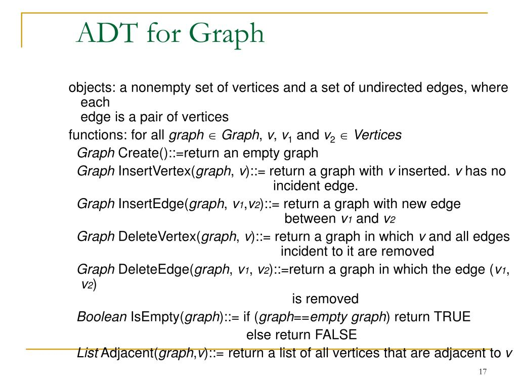 ADT for Graph