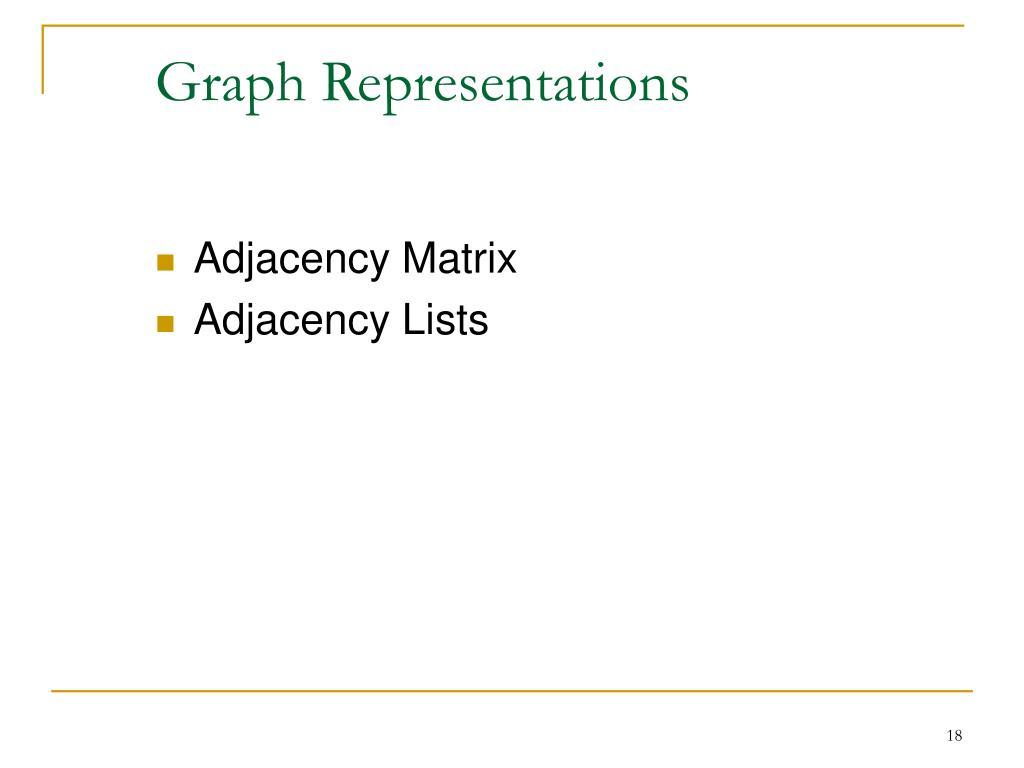 Graph Representations