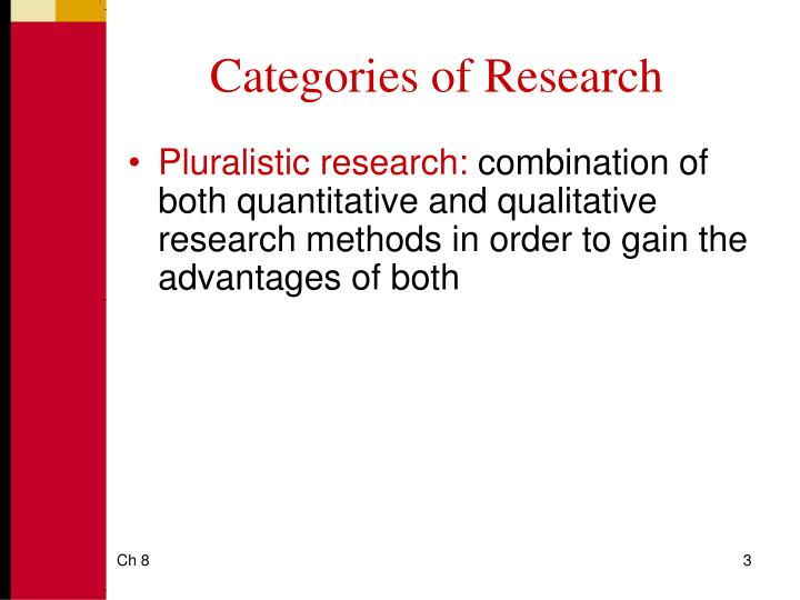 Categories of research3