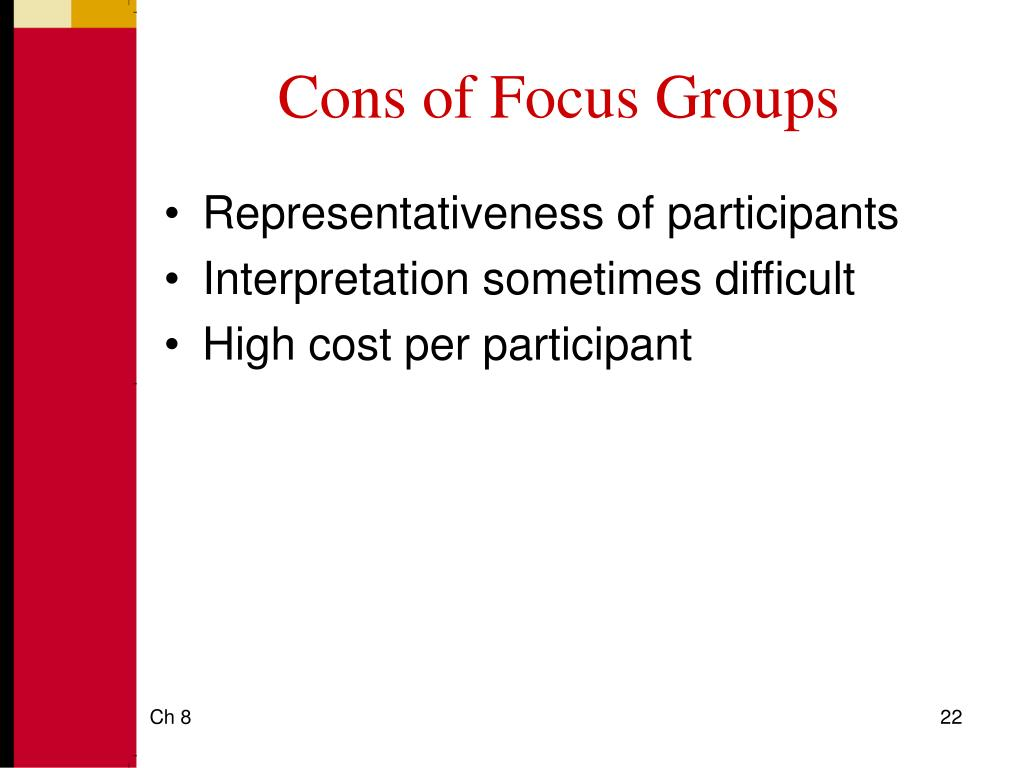 Cons of Focus Groups