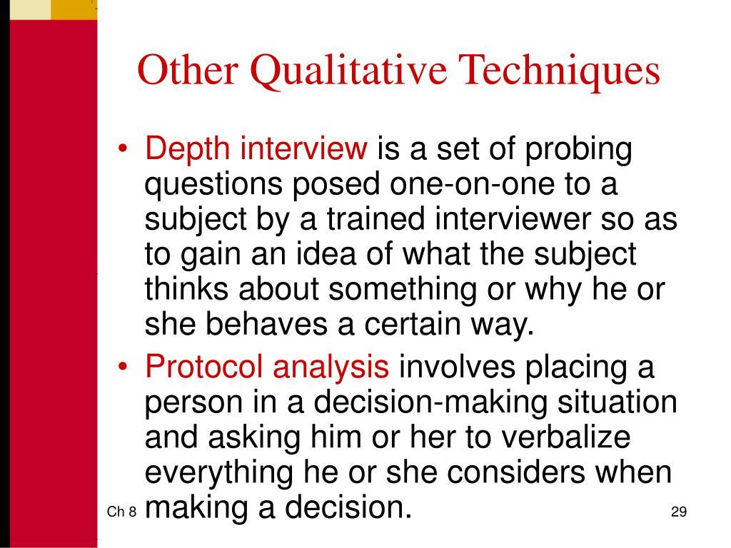 Other Qualitative Techniques