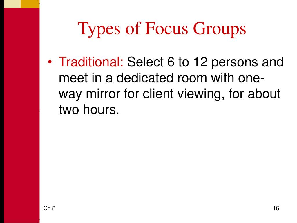 Types of Focus Groups
