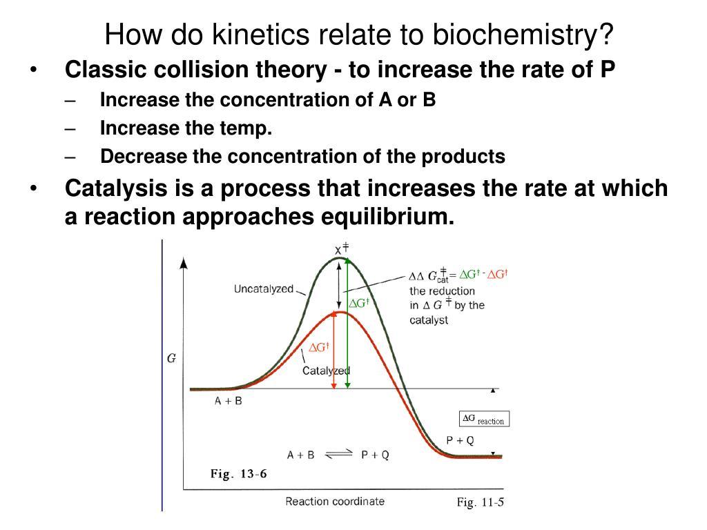 How do kinetics relate to biochemistry?