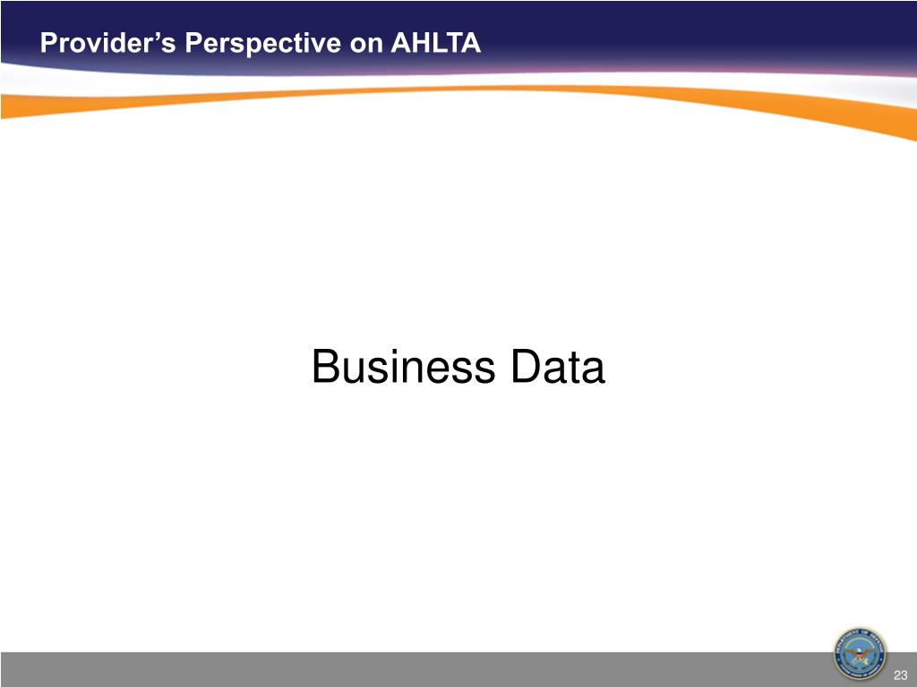 Provider's Perspective on AHLTA