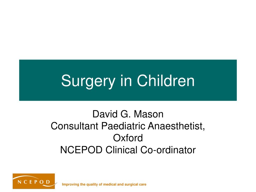 surgery in children l.