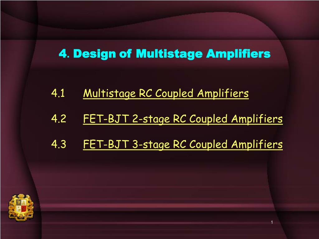 Ppt 4 Design Of Multistage Amplifiers Powerpoint Presentation 1000w High Power Amplifier With Mosfet Circuit Schematic Diagram L