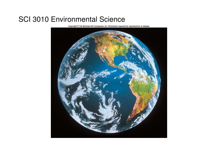 sci 3010 environmental science n.
