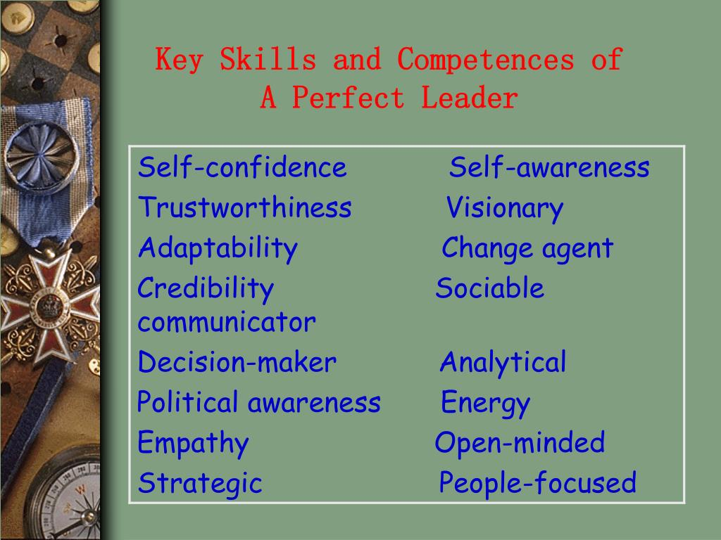 Key Skills and Competences of