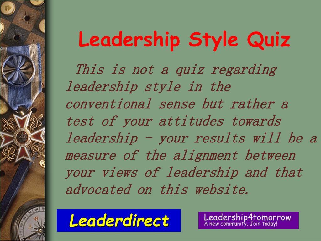 Leadership Style Quiz