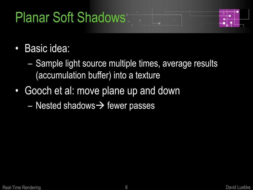 Planar Soft Shadows