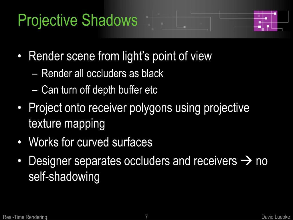 Projective Shadows
