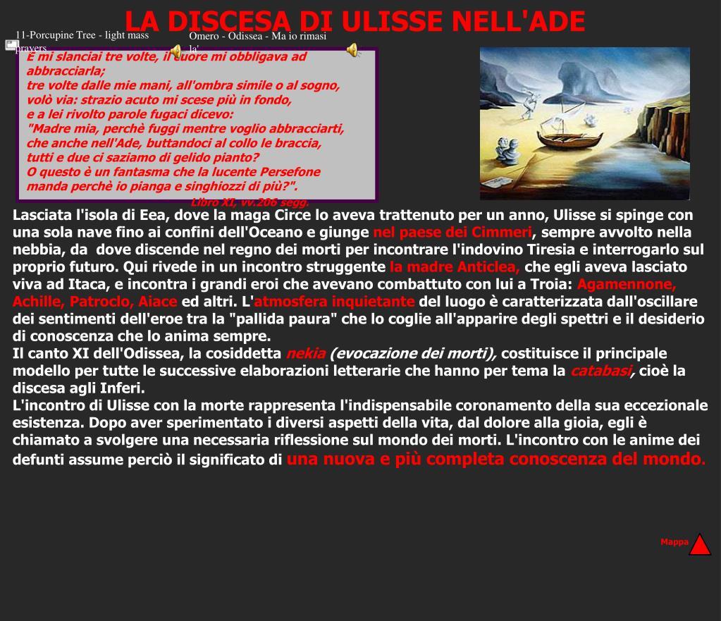 LA DISCESA DI ULISSE NELL'ADE