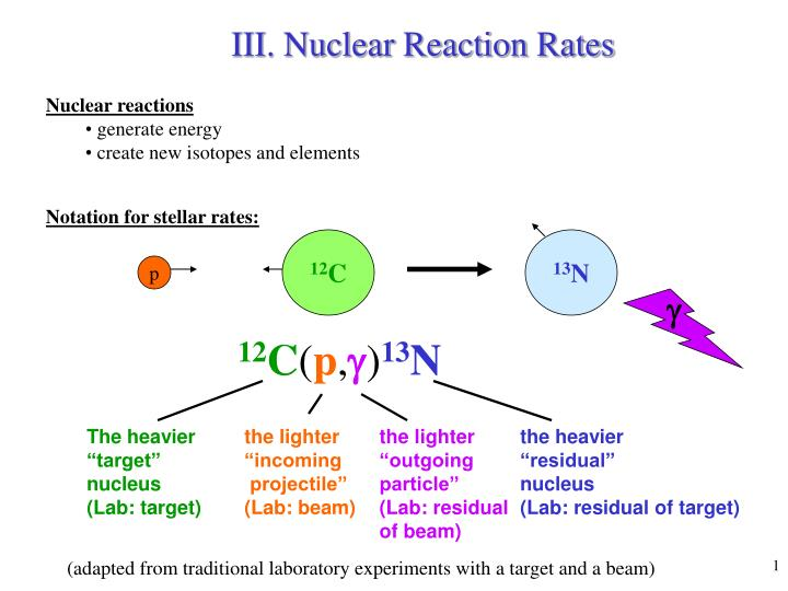 III. Nuclear Reaction Rates