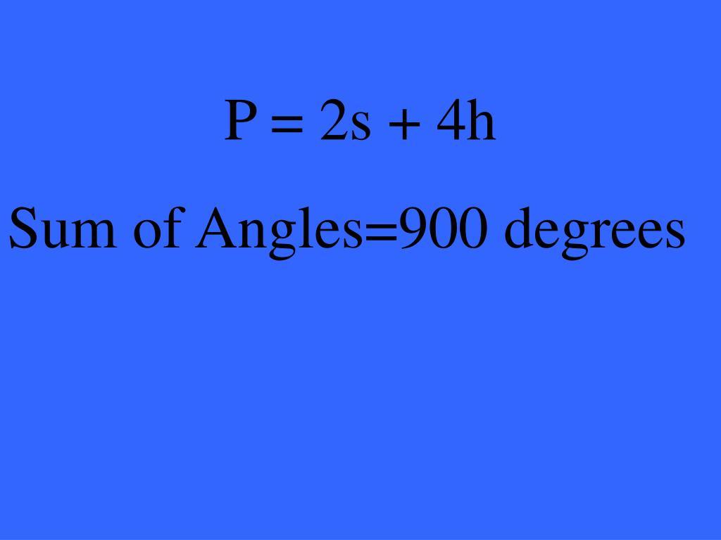P = 2s + 4h