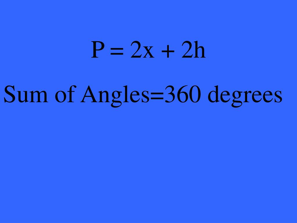 P = 2x + 2h