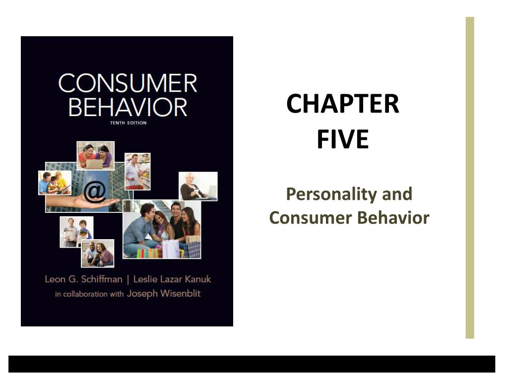 personality and consumer behavior l.