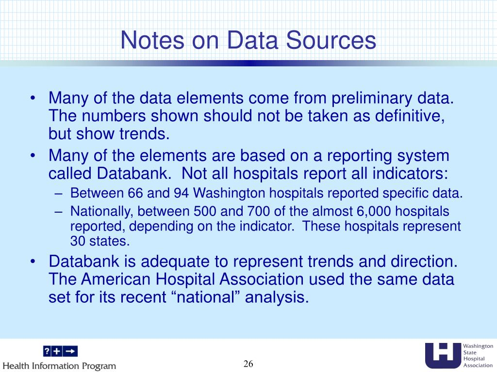 Notes on Data Sources