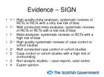 evidence sign