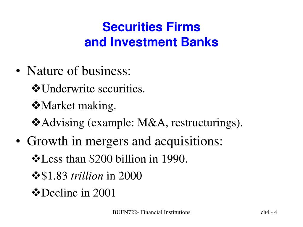 Securities Firms