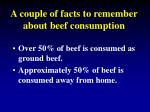 a couple of facts to remember about beef consumption