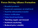 forces driving alliance formation39