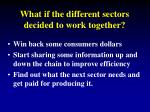 what if the different sectors decided to work together