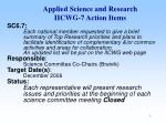applied science and research iicwg 7 action items1