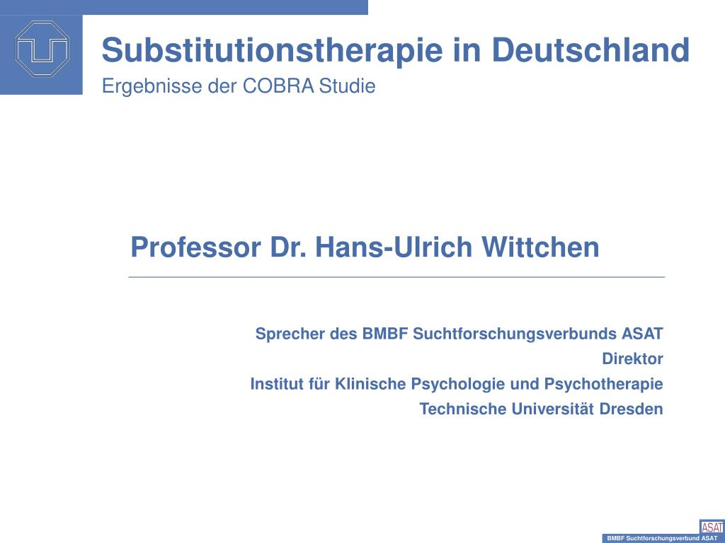 substitutionstherapie in deutschland