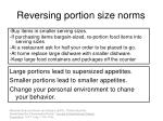 reversing portion size norms