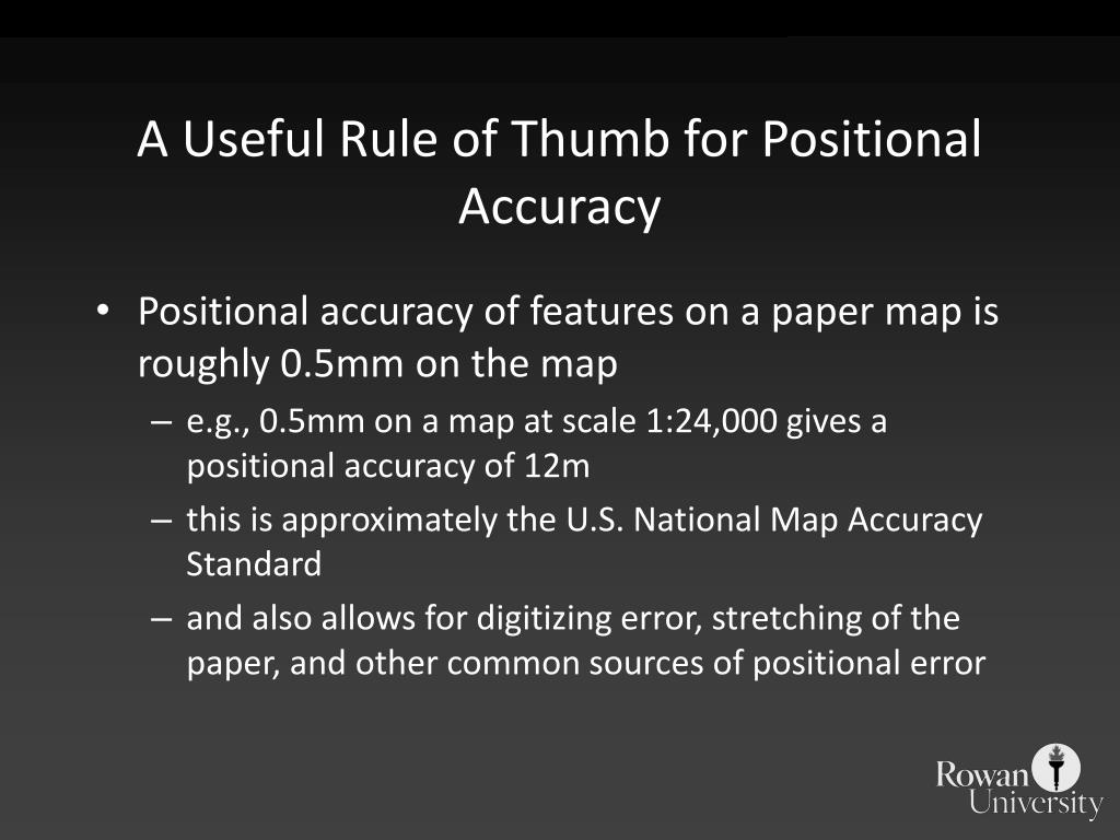 A Useful Rule of Thumb for Positional Accuracy