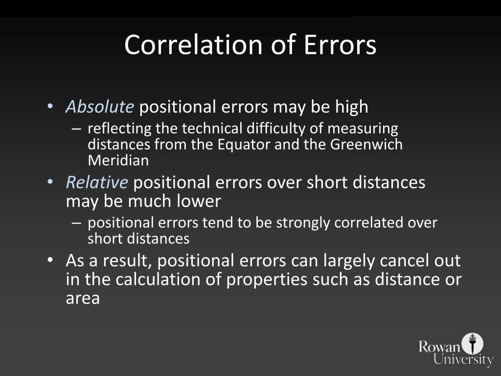 Correlation of Errors