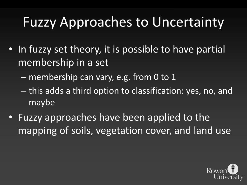 Fuzzy Approaches to Uncertainty