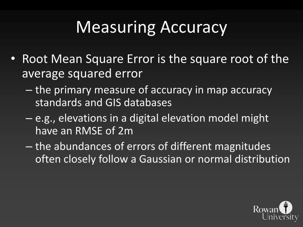 Measuring Accuracy